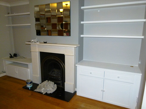 Putney-SW15-Earlsfield-SW18 Fitted Alcove Media Cabinets