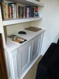 fitted Victorian bookcases